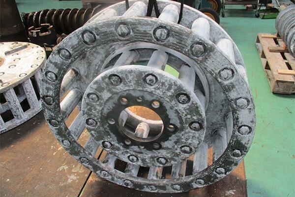 各種回転機械、他整備の実績:ケージミル動バランス修正に関する画像
