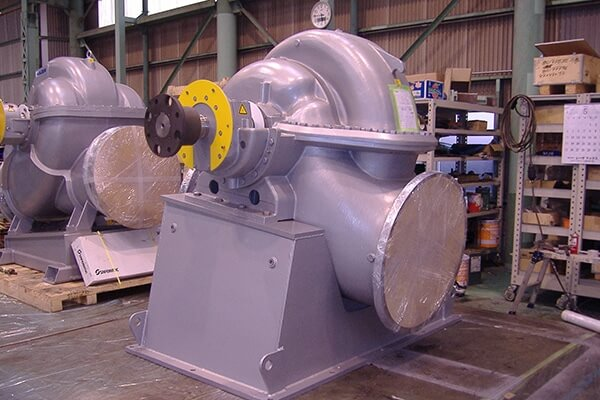 Record of Performance:Assembly of double suction pumps