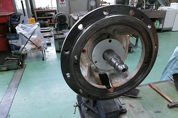 ポンプ整備の実績:片吸い込みポンプ補修に関する画像